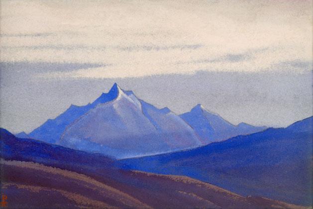 Гималаи [Синие вершины на фоне серого неба]. 1941 Himalayas [The Blue Peaks against the Grey Sky]