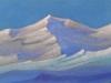Гималаи [Древние ветры]. 1944 Himalayas [The Ancient Winds] Картон, темпера. 30,6 х 45,8
