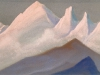 Вершины [Созвучие пиков]. 1944 The Tops [The Consonance of the Peaks] Картон, темпера. 30,6 х 45,8