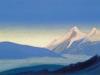 Гималаи [Горная соната]. 1944 Himalayas [The Mountain Sonata] Картон, темпера. 30,7 х 45,7