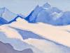 Гималаи [Снежный путь]. 1944 Himalayas [The Snowy Way] Картон, темпера. 15,3 х 30,5