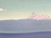 Гималаи [Предрассветный туман]. 1944 Himalayas [The Predawn Mist] Картон, темпера. 30,9 х 45,6