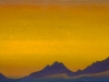 Закат [Догорающий день]. 1944 Sunset [The Fading Day] Картон, темпера. 30,5 х 45,6
