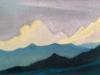 Гималаи [Горный аккорд]. 1944 Himalayas [The Mountain Chord] Картон, темпера. 30,7 х 45,6