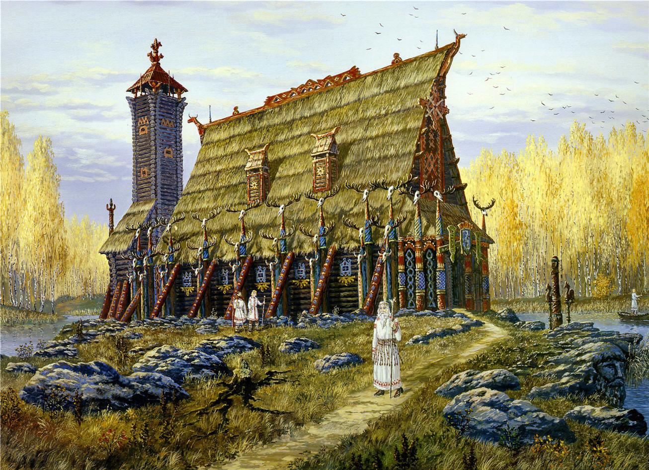Храм Хорса бога осени