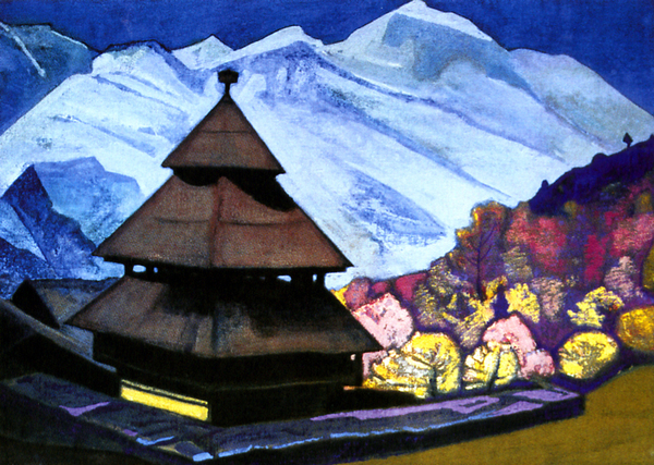 Н.К. Рерих. Храм Трипурасундарам (1932)
