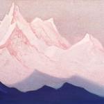 КАШМИР Белые горы. 1944 White Mountains Картон, темпера. 30,6 х 45,8