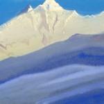 КАШМИР Нанга Парбат [Царство льда и снега]. 1941 Nanga Parbat [The Kingdom of the Ice and the Snow] Картон, темпера. 30,3 х 45,7