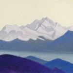 СИККИМ Канченджанга. 1937 Kanchenjunga Картон, темпера. 30,2 х 45,6