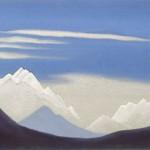СИККИМ Гималаи [Канченджанга от Гангтока]. 1939 Himalayas [Kanchenjunga from Gangtok] Картон, темпера. 30,1 х 45,4