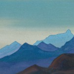 СИККИМ Эверест [Хребет за хребтом]. 1938 Everest [The Ridge after the Ridge] Картон, темпера. 30,7 х 45,5