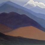 Гималаи [Горная пустыня]. 1935–1936 Himalayas [The Mountain Desert] Картон, темпера. 30,2 х 45,6