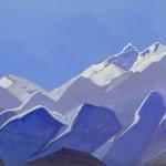 Гималаи [Восхождение]. 1935–1936 Himalayas [Ascension] Картон, темпера. 30,4 х 45,7
