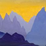 Драконовы зубы [Гармония красок и скал]. 1935–1936 Dragon's Teeth [The Harmony of the Colours and the Rocks] Картон, темпера. 30,5 х 45,7