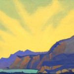 Горное озеро. 1935–1936 The Mountain Lake Холст, темпера. 29,2 х 47,6