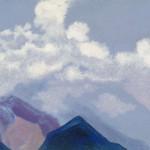 Гималаи [Облака над пиками]. 1935–1936 Himalayas [The Clouds above the Peaks] Картон, темпера. 30,2 х 45,6