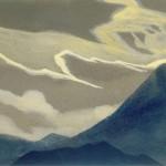 Гималаи [Горная симфония]. 1935–1936 Himalayas [The Mountain Symphony] Картон, темпера. 30,5 х 45,6