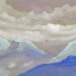 Гималаи [Зеленый луч в горах]. 1935–1936 Himalayas [The Green Ray in the Mountains] Картон, темпера. 30,6 х 45,8