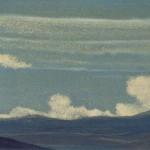Гималаи [Таинственная игра облаков]. 1935–1936 Himalayas [Mysterious Play of the Clouds] Картон, темпера. 30,3 х 45,5
