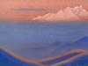 Гималаи [Горящие дали]. 1944 Himalayas [The Glowing Expanses] Картон, темпера. 30,8 х 45,7