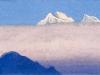 Гималаи [Утренние туманы]. 1944 Himalayas [The Morning Mists] Картон, темпера. 15,2 х 30,5