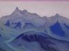 Гималаи [Рассветные волны]. 1944  Гималаи [Рассветные волны]. 1944 Himalayas [The Dawn\'s Waves] Картон, темпера. 30,5 х 45,6