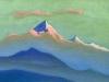 Закат [За облачным покровом]. 1944  Закат [За облачным покровом]. 1944 Sunset [Behind the Cloudy Cover] Картон, темпера. 30,4 х 45,7